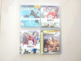 PS3 Games (x4) Bundle - Brink, Motor Storm, Fifa 10 & 12 - Great Birthday Christmas Wedding Present