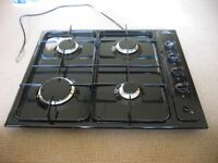 4 Burner NECHT black gas hob. As new in box.