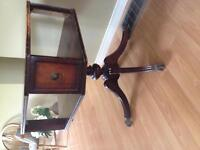 Antique Swivel Game Table