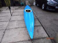 Canoe/ Kayak, 4m fibreglass one man kayak with spraydeck and paddle