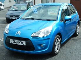 10/60 Citroen C3 1.1 VT 5dr, Metallic Blue. **Same Family Owned From New, 12 Months MOT**