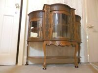 Antique French Display cabinet Chiffonier Carved solid wood