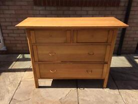 Chest of drawers and large wardrobe with working key