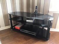 BLACK GLASS TV UNIT ONLY £35!!!!