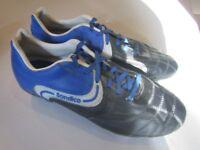Football Boots. Sondico Black/Blue. Size 8