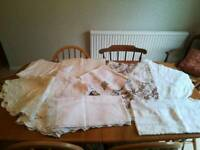 Beautiful Vintage Tablecloths - weddings/afternoon tea