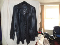 gents real leather coat