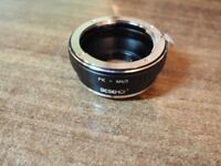 Lens dumb adapter pentax to micro four thirds