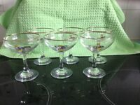 BABYCHAM GLASSES - COMPLETE SET OF 6 - COLLECTiBLE SET