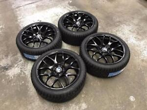 "18"" Matt Black Wheels 5x120 and Winter Tires Package (BMW CARS) Calgary Alberta Preview"