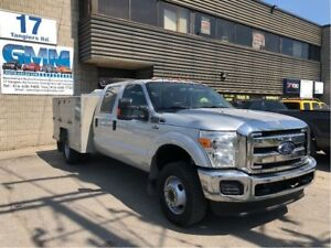 2014 Ford F-350 XLT Crew Cab Utility Space Cap Box 4X4 Gas