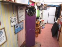 ART DECO CLOCK GRANDMOTHER CASE, CONVERTED IN TO A QUARTZ CLOCK MOVEMENT. 48ins TALL