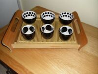 Bamboo Tray & Bowls