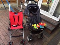 Garaco mirage Pushchair, Stroller and car seat (good condition)