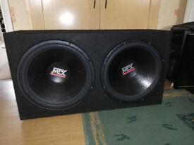 "Twin 15"" MTX Subwoofers & JL Audio Mono Block Amplifier £160 OVNO"