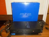 Playstation 2 games console, controller, memory card and 7 games