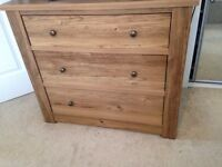 NEXT Chest of drawers and 2x bed side table set