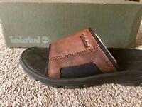Men's leather Timberland flip flops size 9.5
