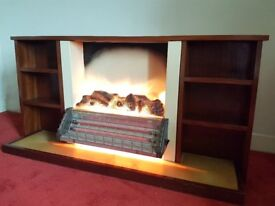 PRICED TO SELL - 2 Bar electric fire with surround 1970s style