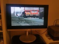 B & O . Bang Olufsen 32 inch TV with built-in DVD player