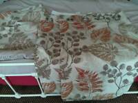 Curtains and matching pillow cases from dunelm