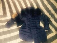 Ladies H&M Puffer coat with fur hood