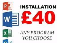 Install Word (Or Any Other Program) - From Only £40