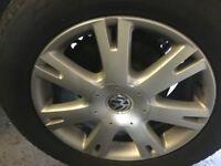 """Vw Touareg 2.5 Tdi 18"""" Alloy wheel & Tyre Set x 4 255 55 R18 2003-08"""