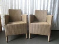 PAIR OF QUALITY VINCENT SHEPPARD DEAUVILLE OUTDOOR LLOYD LOOM WEAVE DINING CHAIRS FREE DELIVERY