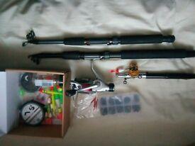 3xfishing rods plus equipment