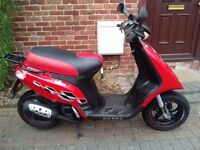 2007 Gilera Storm 50 scooter, 2 stroke, new 1 year MOT, fast, 50mph, same as typhoon, de-restricted.