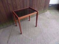 Coffee Table Glass Topped Side Delivery Available