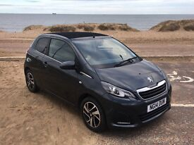 Peugeot 108 1.0 Active 3dr, soft top, with alloy wheels, tinted windows and upgraded interior