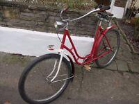 Dutch bike - custom built - vintage (very old!) large ladies' Dutch frame, beachcruiser handlebars