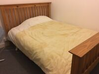 Wooden double bed, excellent condition