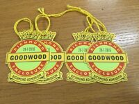 1 Pair of tickets for Qatar Goodwood Festival Richmond Enclosure Friday 29th July FOR SALE