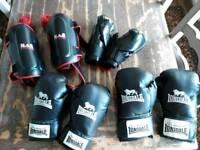 Boxing gloves/ shin pads