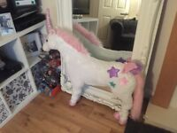 Free standing tall unicorn toy