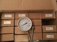 16no all Stainless Steel Bi-Metallic Thermometers