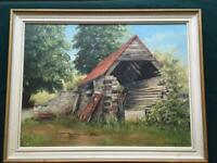 Oil Painting On Board Signed J Williams 1985.