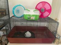 Large Alaska Hamster Cage and Accessories