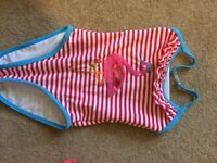 Flamingo girls swim suit age 2-3
