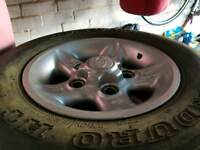 4 x Landrover Deep Dish XS wheels and tyres