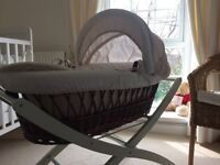 Moses basket with mothercare stand