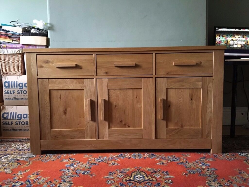 Solid Oak Sideboard From Homebase In Hall Green West Midlands