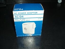 SONY AC - D4 POWER ADAPTON