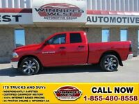 2011 Dodge Ram 1500 FLAME RED 4X4 4.7L V8 MAGNUM, EXTRA SHARP MO