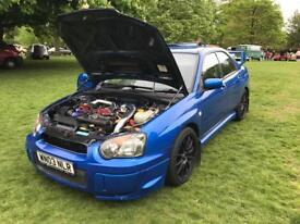 2003 WRX, STI upgraded 350bhp