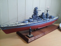 IJN Nagato 1/350 scale model - professional quality made model with massive detail