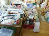 Selection of various Quilting Fabrics / Patchwork / Templates / Craft / Card Making